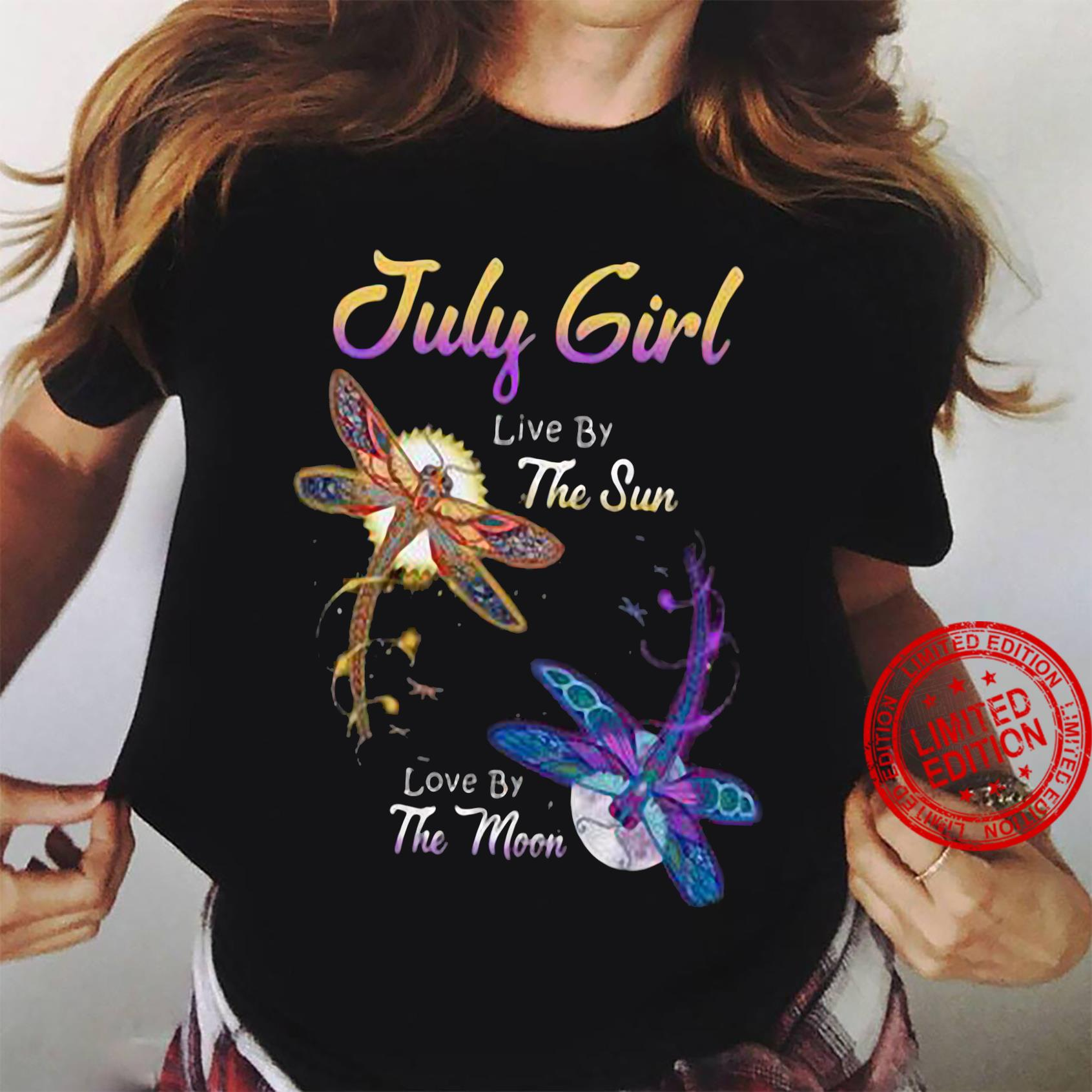 July girl live by the sun love by the moon shirt ladies tee