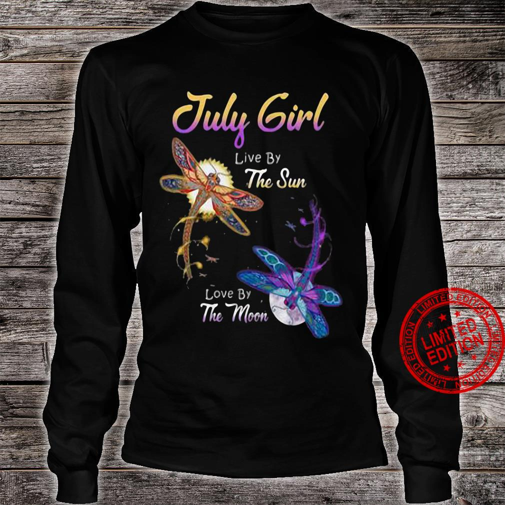 July girl live by the sun love by the moon shirt long sleeved