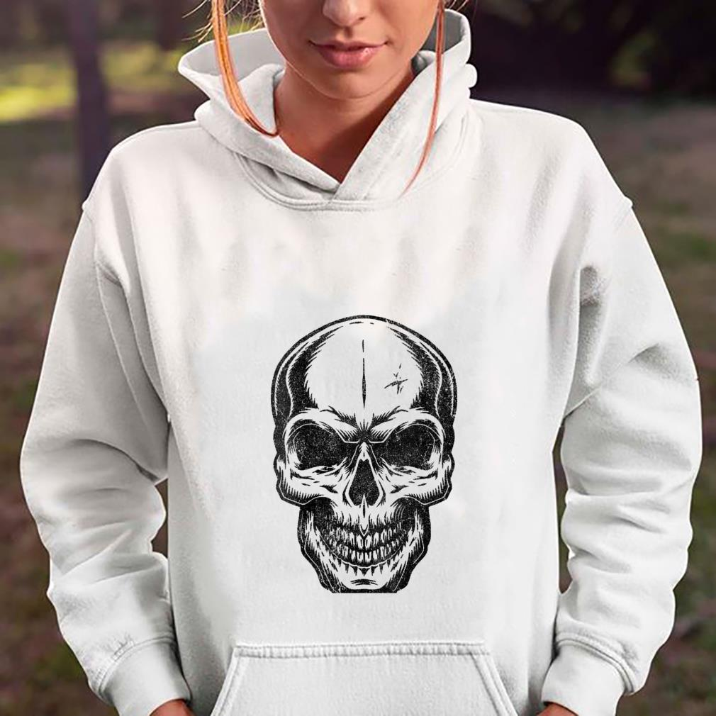 Womens Angry Skeleton Scull Scary Horror Halloween Party Shirt hoodie