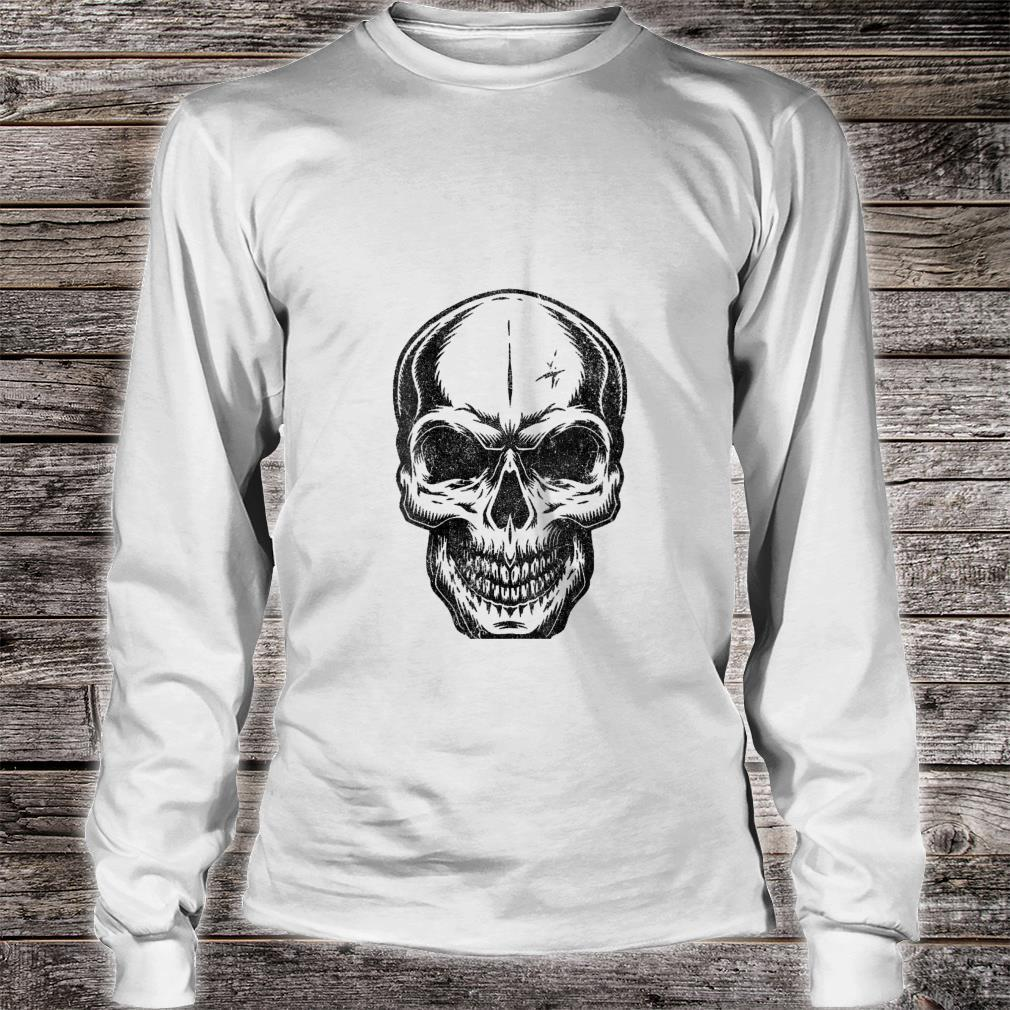 Womens Angry Skeleton Scull Scary Horror Halloween Party Shirt long sleeved