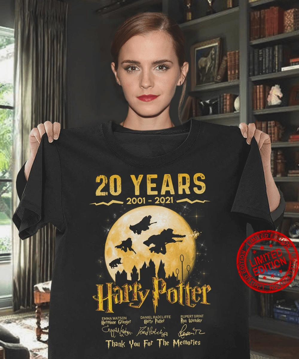 20 Years 2001-2021 Harry Potter Thank You For The Memories Shirt