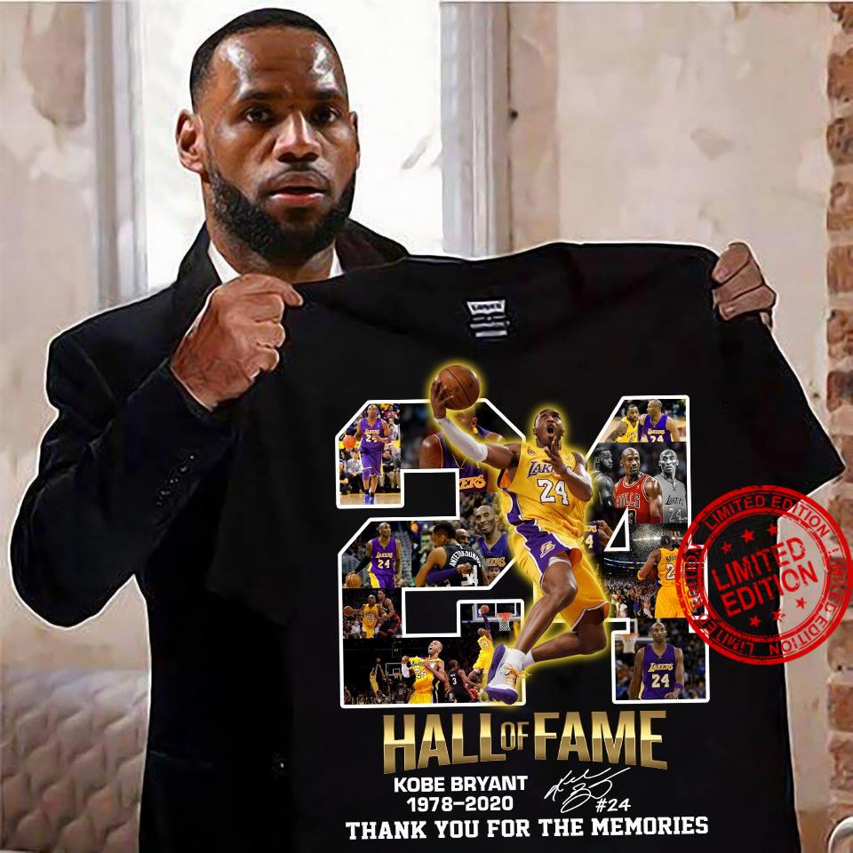 Hall Of Fame Kobe Bryant 1978 2020 Thank You For The Memories Shirt