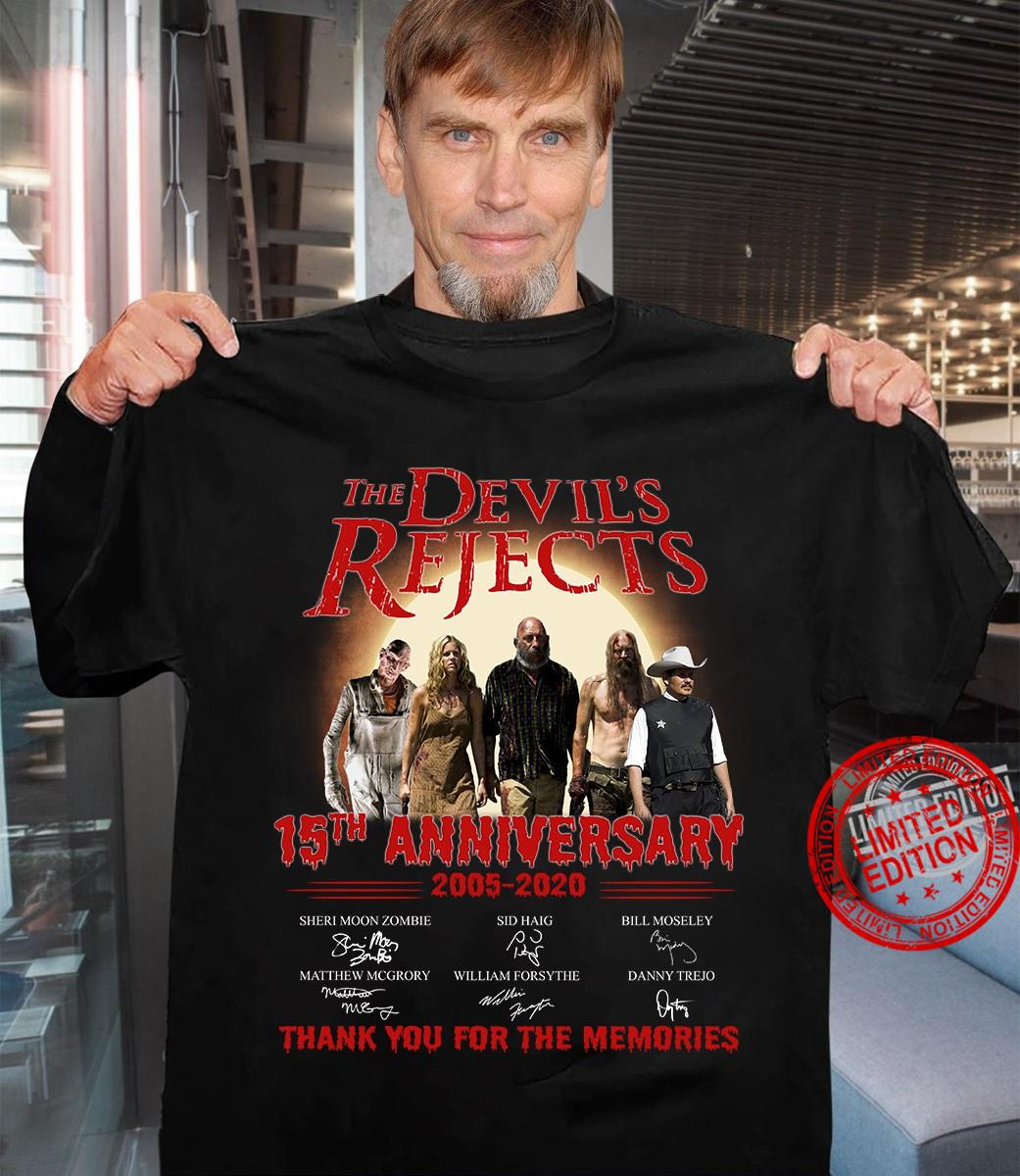 The Devil's Rejects 15th Anniversary 2005-2020 Thank You For The Memories Shirt
